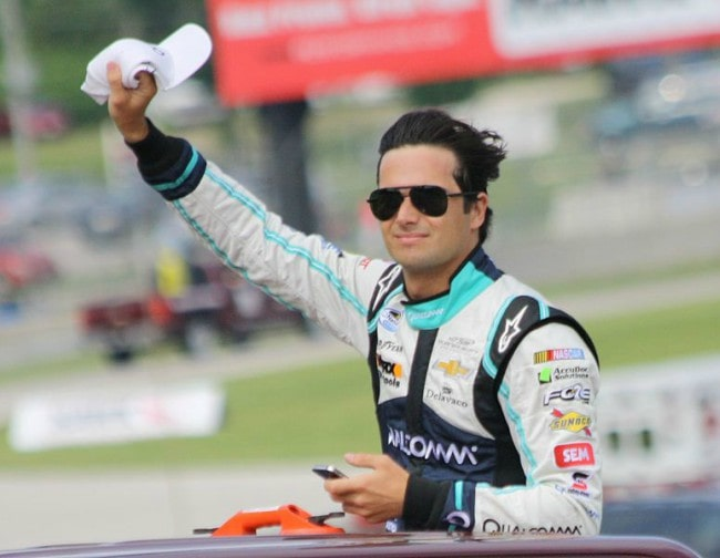 Nelson Piquet Jr. at the 2013 Johnsonville Sausage 200 Nationwide Series race