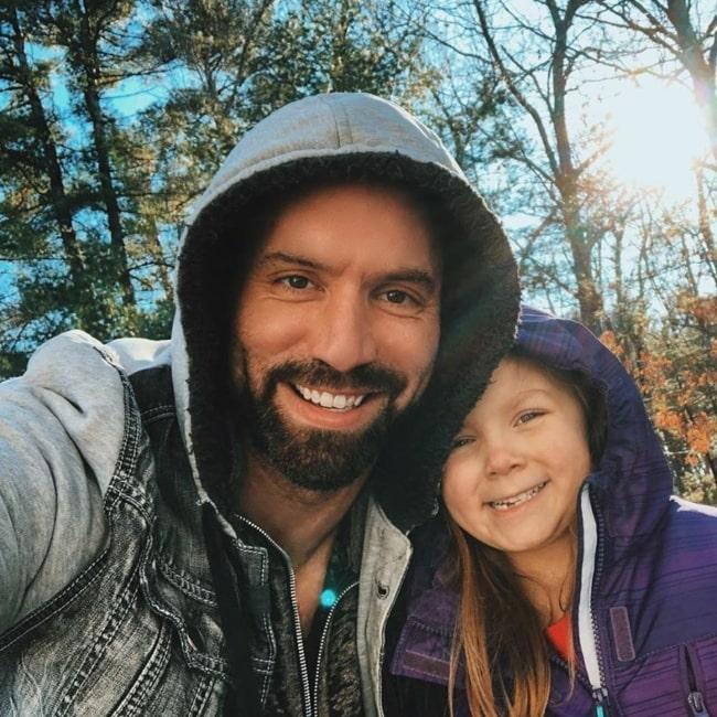 Nick Groff as seen in a selfie with his daughter Chloe in December 2019