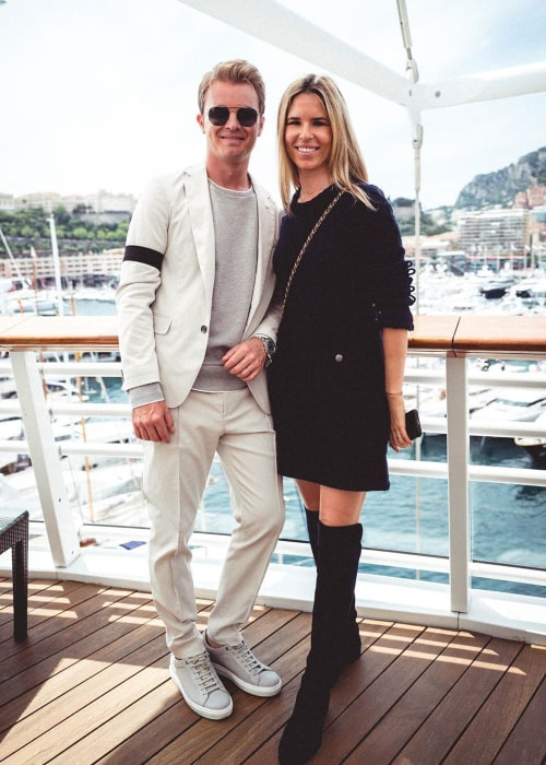 Nico Rosberg and Vivian Sibold, as seen in May 2019