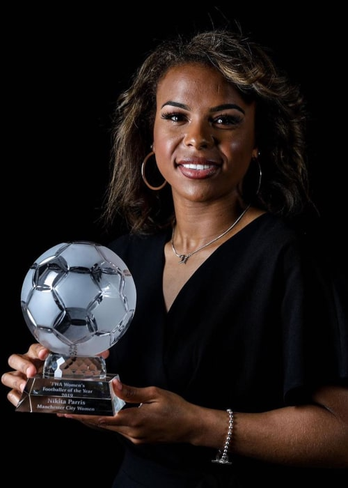 Nikita Parris after winning the 'FWA Women's Player of the Year' award in May 2019