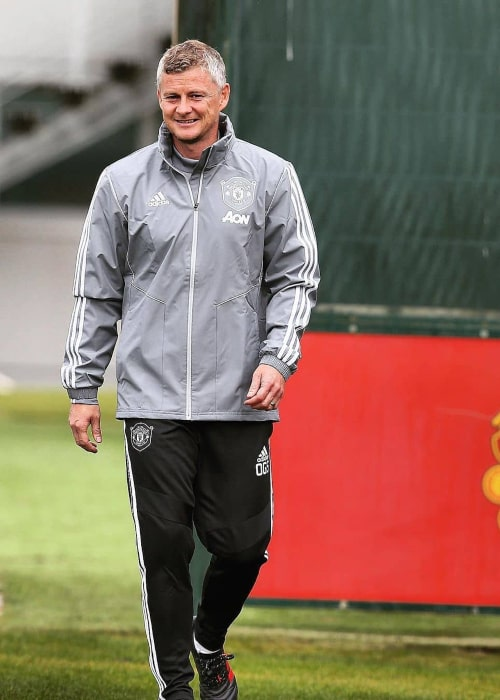 Ole Gunnar Solskjær during a Manchester United training session in September 2019