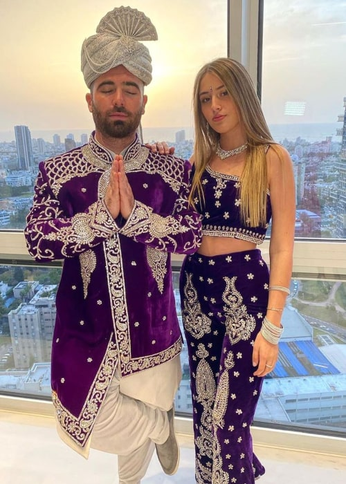 Omer Adam and Sheerelle Toledano, during a trip to India in March 2020