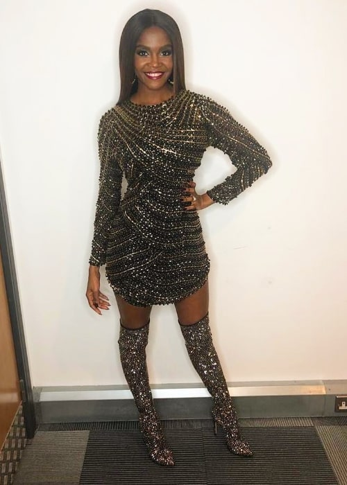 Oti Mabuse as seen while posing for a picture in February 2020