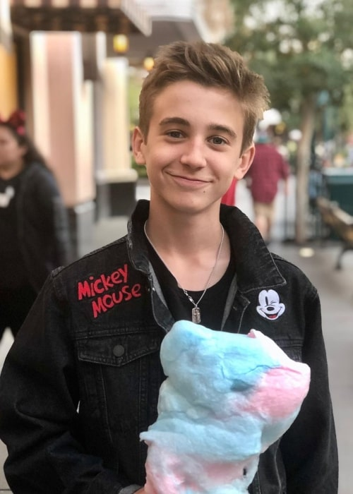 Parker Bates as seen in a picture taken at Disney California Adventure Park in March 2020