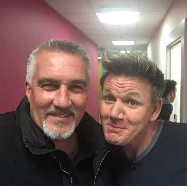 Paul Hollywood and celebrity chef Gordon Ramsay, as seen in March 2017