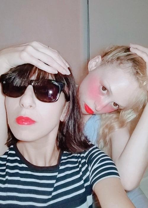 Petite Meller (Right) as seen in a selfie along with Jennifer Abessira in September 2018