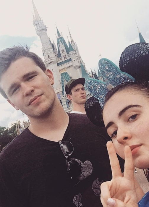 Peyton Clark as seen in a selfie taken with his ex-girlfriend Sarah Carpenter in Walt Disney World in August 2017