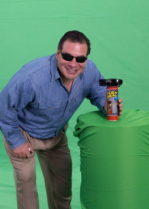 Phil Swift as seen in a picture taken with a Flex Seal product of his in January 2020