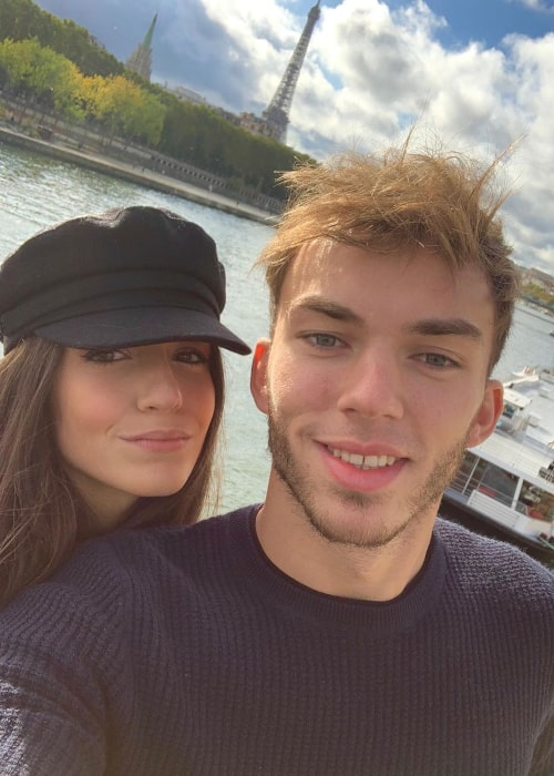 Pierre Gasly and Caterina Masetti Zannini, as seen in December 2019