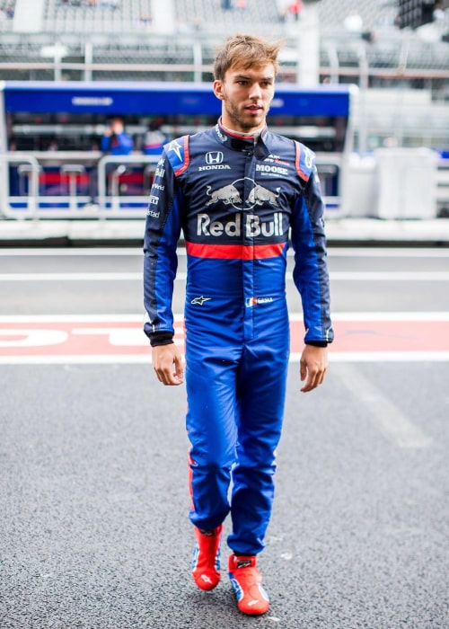 Pierre Gasly on the sidelines of the Mexican GP in October 2019