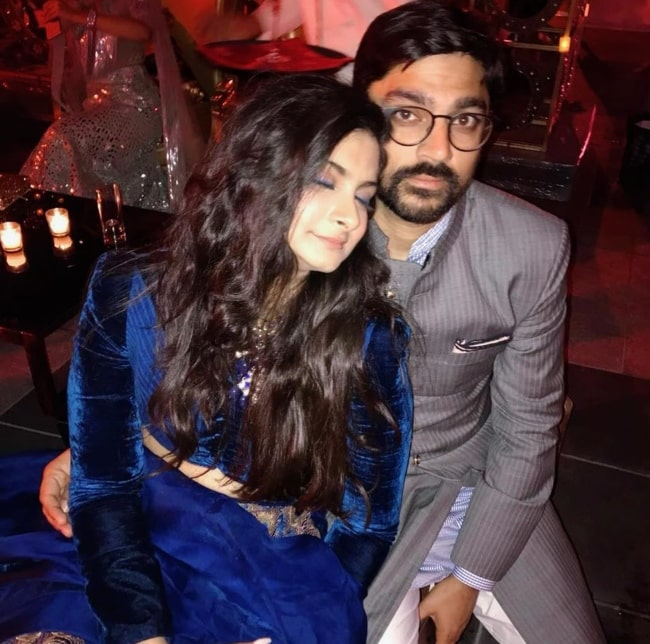 Rhea Kapoor having a cozy time with her boyfriend on his birthday in October 2019
