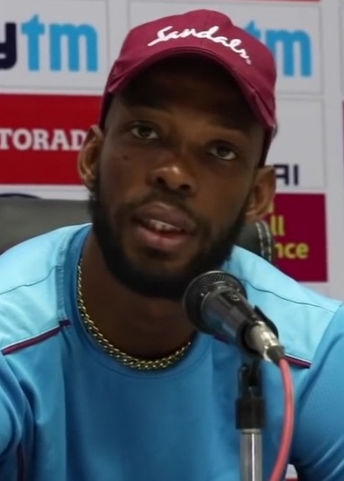 Roston Chase during an interview as seen in October 2018