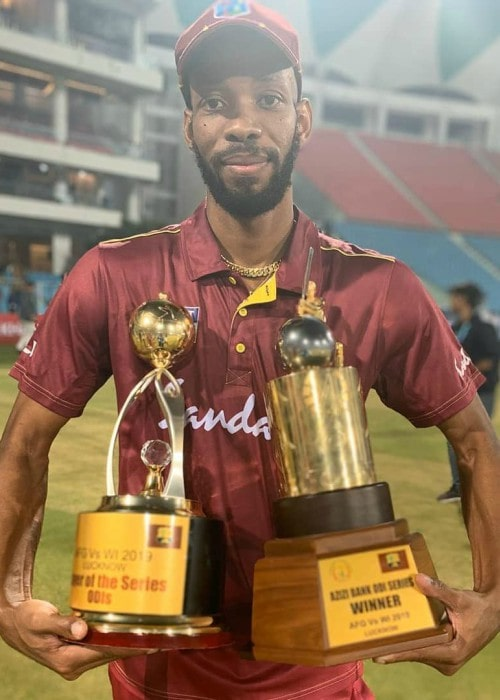 Roston Chase in an Instagram post as seen in November 2019