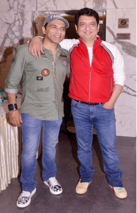 Sajid Nadiadwala with Farhad Samji at the screening of Housefull 4 in 2019.