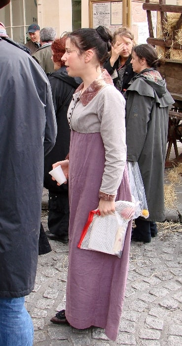 Sally Hawkins as seen in Bath, England during location shooting for 'Persuasion' in 2006