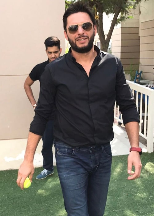 Shahid Afridi as seen in an Instagram Post in January 2017