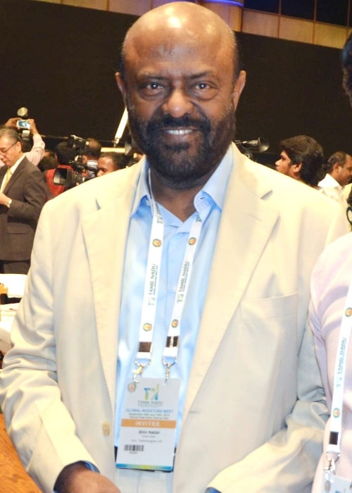 Shiv Nadar as seen in a picture taken in during the Tamil Nadu Global Investors Meet on January 11, 2016