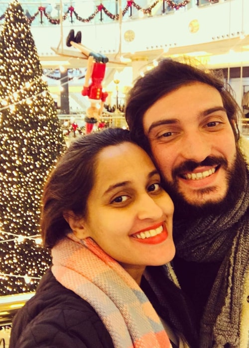 Shweta Pandit and Ivano Fucci, as seen in December 2019