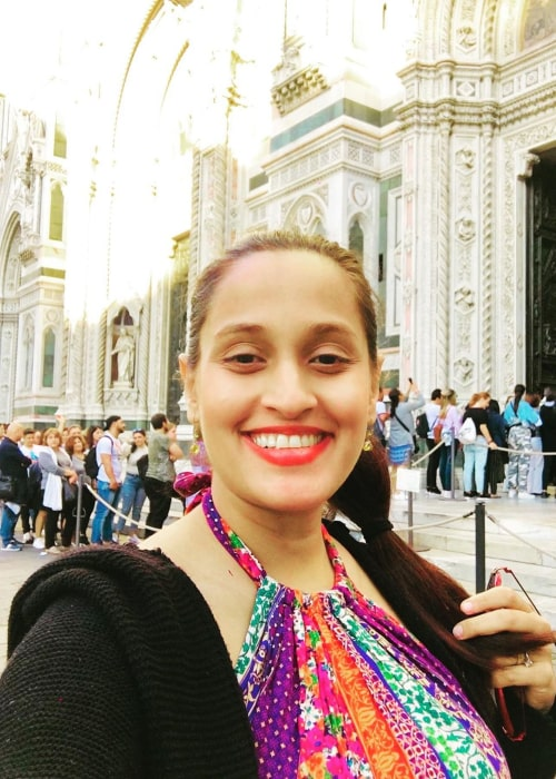 Shweta Pandit in an Instagram selfie from October 2019