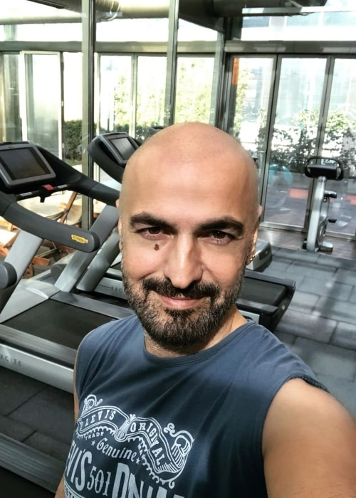 Soner Sarikabadayi as seen in a selfie taken in February 2020 while at the gym