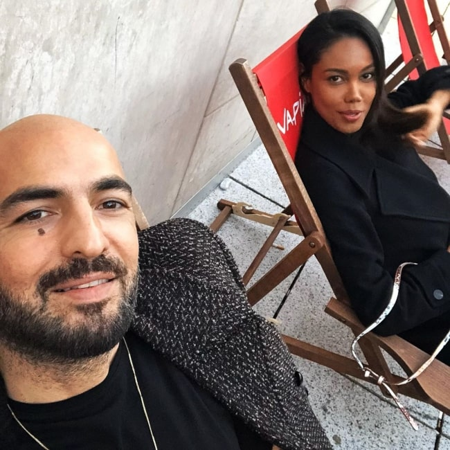 Soner Sarikabadayi as seen in a selfie taken with his beau Mady Camelo in February 2020