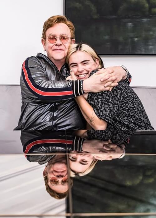 Stella Rose Bennett as seen in a picture taken with veteran singer and songwriter Elton John on March 6, 2020