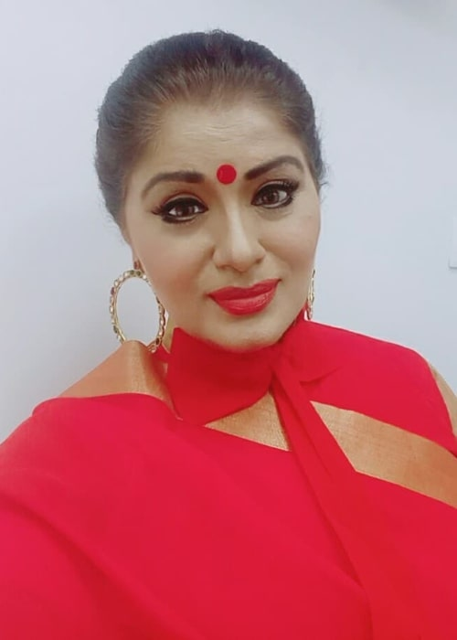 Sudha Chandran in an Instagram selfie from October 2019