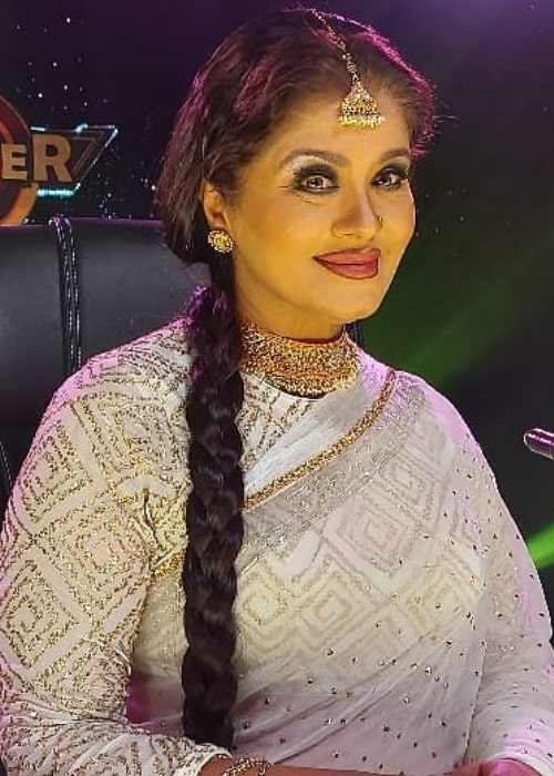 Sudha Chandran on the sets of a dance-based reality show in December 2019