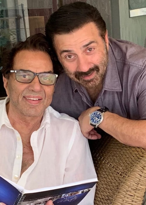 Sunny Deol and Dharmendra, as seen in November 2019
