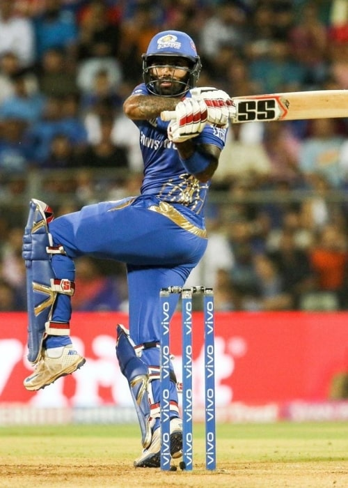 Suryakumar Yadav as seen in a picture taken while playing at the 2019 IPL for Mumbai Indians