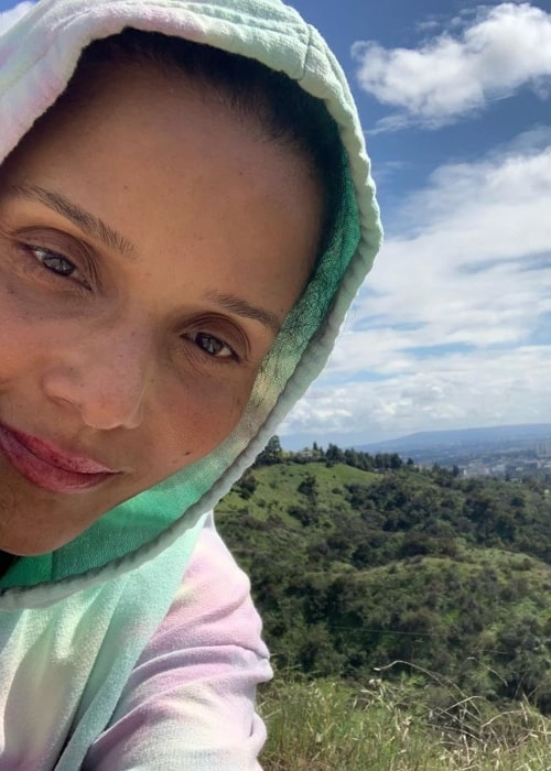 Sydney Tamiia Poitier as seen in a selfie taken in March 2020