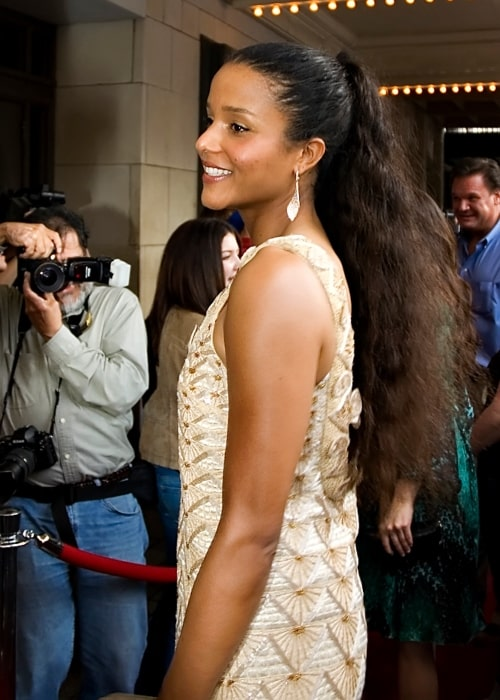 Sydney Tamiia Poitier as seen in picture taken in at the premiere of Grindhouse, Austin, Texas on March 28, 2006