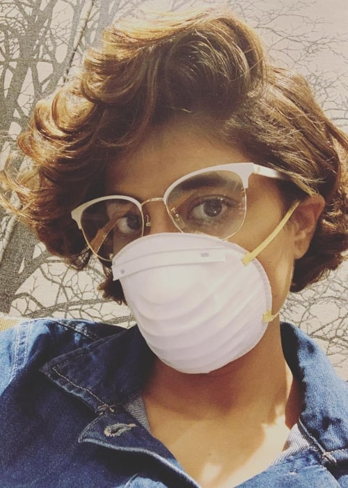 Tahira Kashyap as seen in a selfie taken while she was in Delhi in March 2020