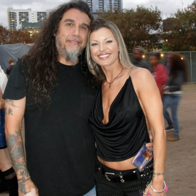 Tom Araya with his wife in September 2019
