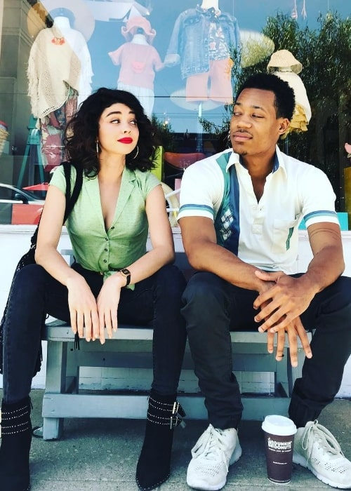 Tyler James Williams and Sarah Hyland as seen while posing for a picture in June 2018