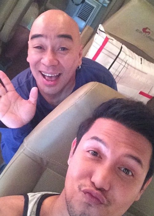 Wally Bayola as seen in a selfie taken with Paolo Ballesteros in May 2015