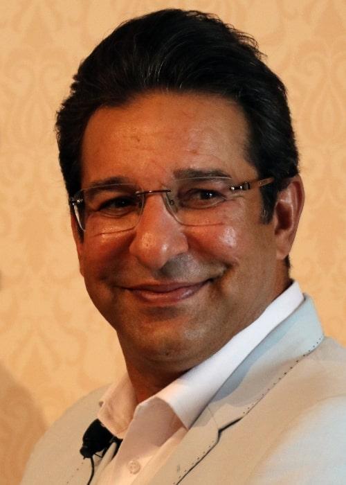 Wasim Akram, Pakistan cricketer, at the 2018 Global Education and Skills Forum in Dubai