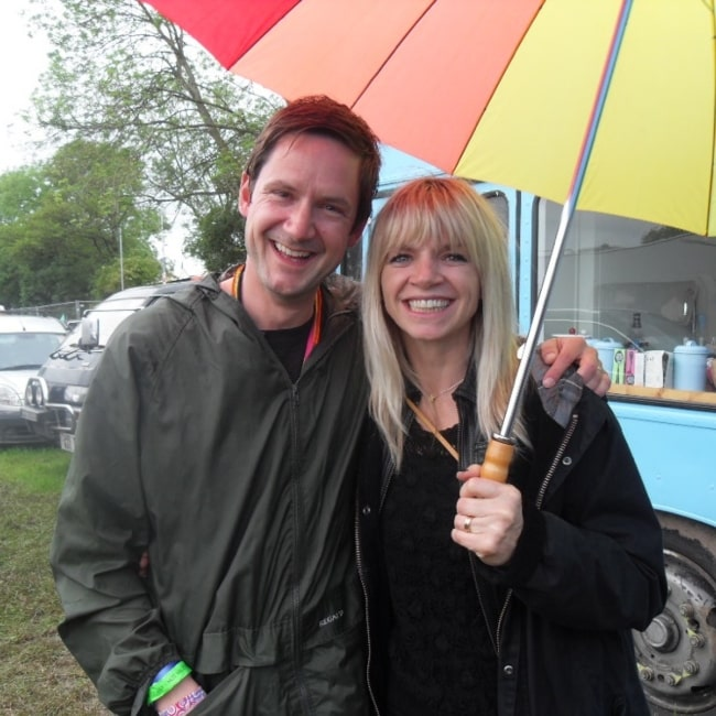 Worthy FM's Guy with the lovely Zoe Ball as seen in a picture taken in January 7, 2009