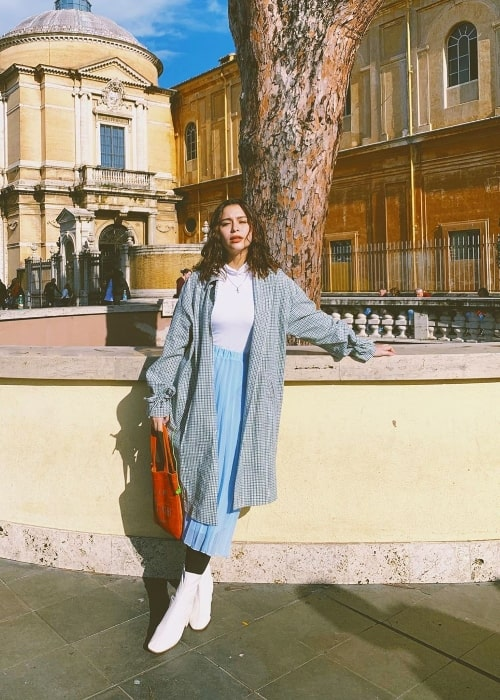 Yassi Pressman as seen while posing for a picture in Rome, Italy in November 2019