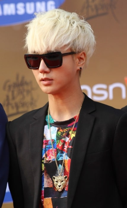Yesung at 27th Golden Disk Awards Red Carpet in January 2013