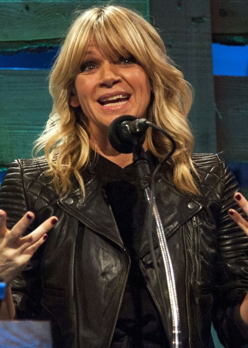 Zoe Ball official photographed at the 2014 BBC Radio 2 Folk Awards