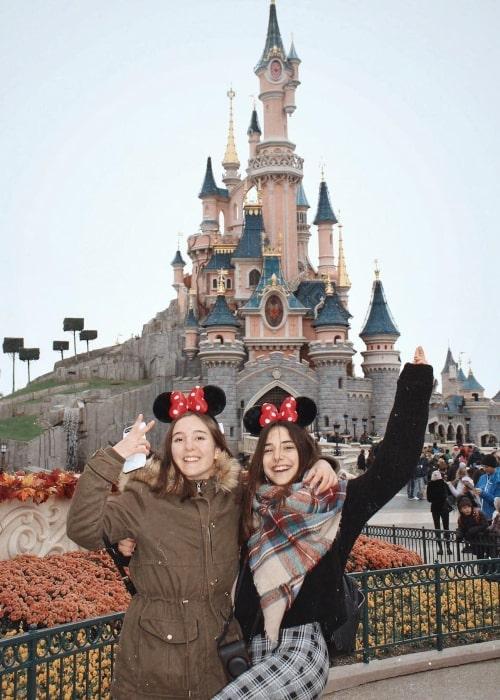 Àngela Mármol as seen in a picture taken with her friend Julia at Disneyland in Paris in October 2018