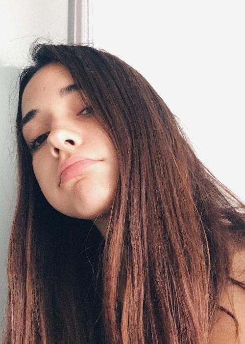Àngela Mármol as seen in a selfie taken in January 2019