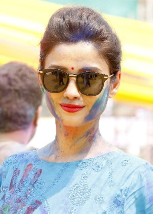 Adaa Khan as seen at the Holi Invasion party in 2018