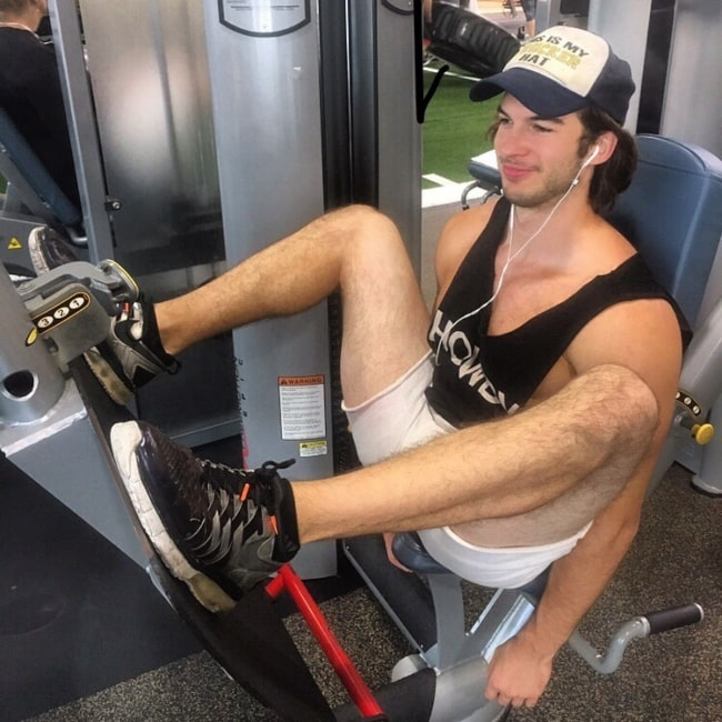 Adam Hagenbuch as seen in a picture taken while in the gym in August 2019