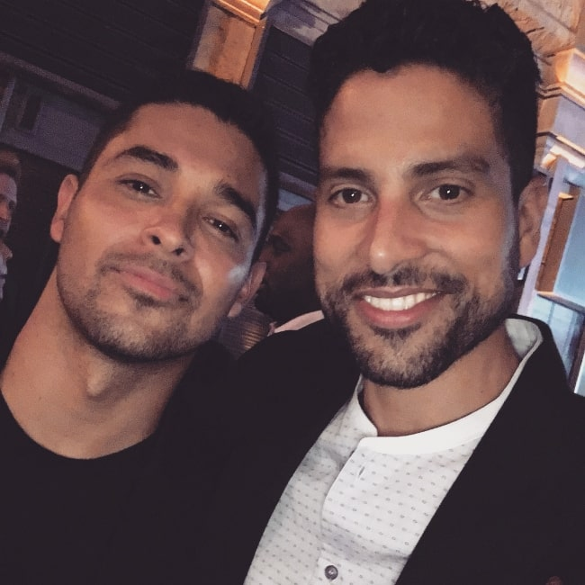 Adam Rodriguez (Right) as seen while taking a selfie alongside Wilmer Valderrama in August 2017