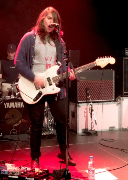 Alex Lahey as seen in a picture taken while performing at the Feierwerk Munich on November 3, 2017