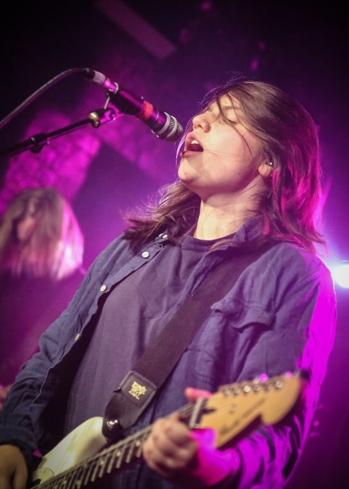 Alex Lahey as seen in a picture that was taken during a live concert at Omeara London on March 23, 2018