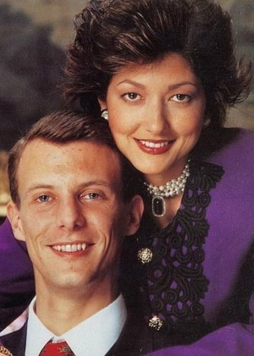 Alexandra, Countess of Frederiksborg and her former husband Prince Joachim in a picture from the past