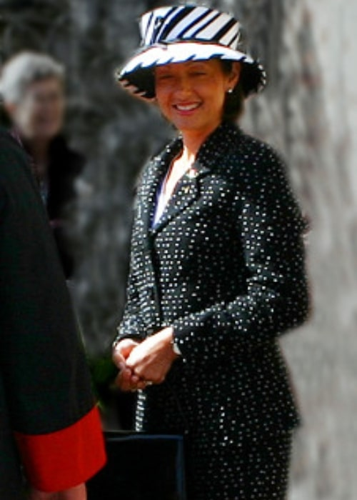 Alexandra, Countess of Frederiksborg as seen in a picture taken when she visited Aalborg, Denmark in 2004